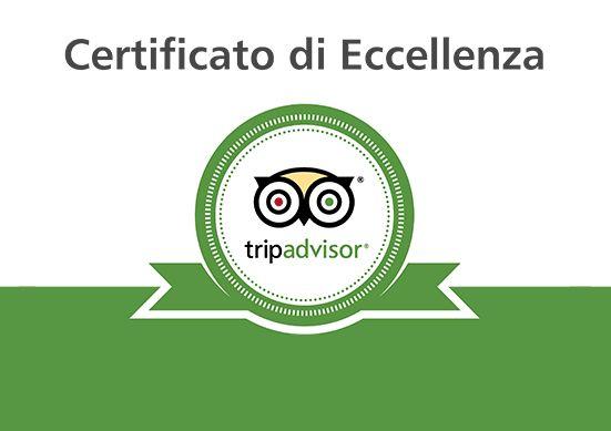 Abbiamo ottenuto il  Certificato d'Eccellenza 2017 di Tripadvisor ed è per noi motivo di grande gioia e soddisfazione. Desideriamo ringraziare tutti i nostri gentilissimi ospiti che ci hanno consentito di raggiungere questo prestigioso riconoscimento!