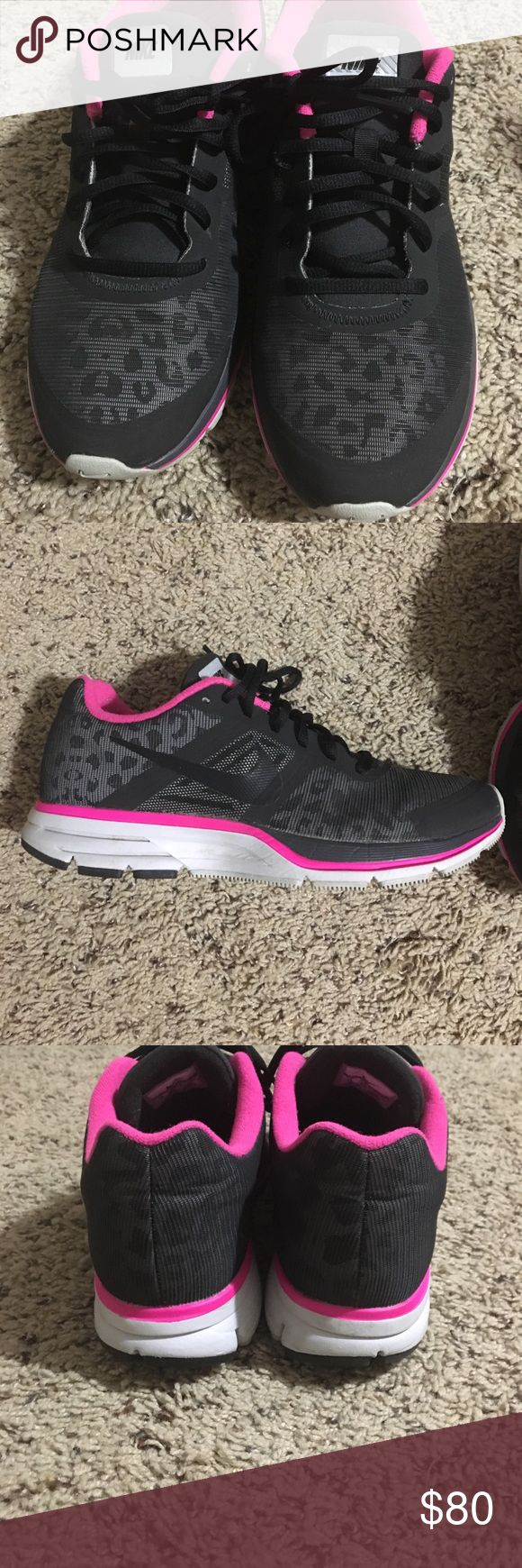 Leopard print Nike H2O repel Pegasus 30 Gently used. Worn a hand full of times. Size 10 tts women's Nike leopard print shoes Nike Shoes Athletic Shoes