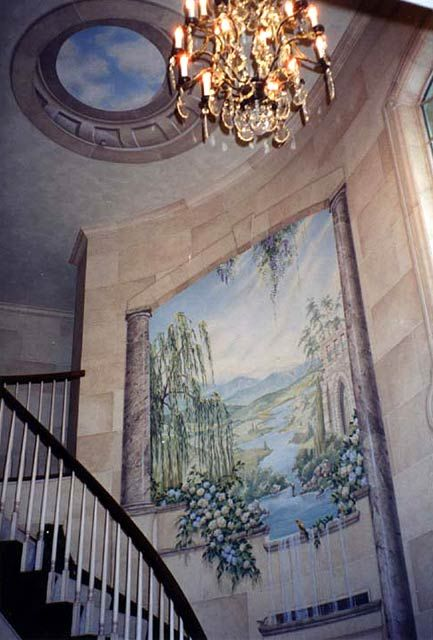 Foyer Staircase Quest : Best images about trompe l oeil on pinterest gardens