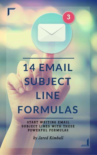 14 Email Subject Line Formulas