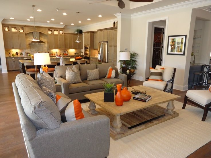 17 best ideas about family room layouts on pinterest for Great room kitchen ideas