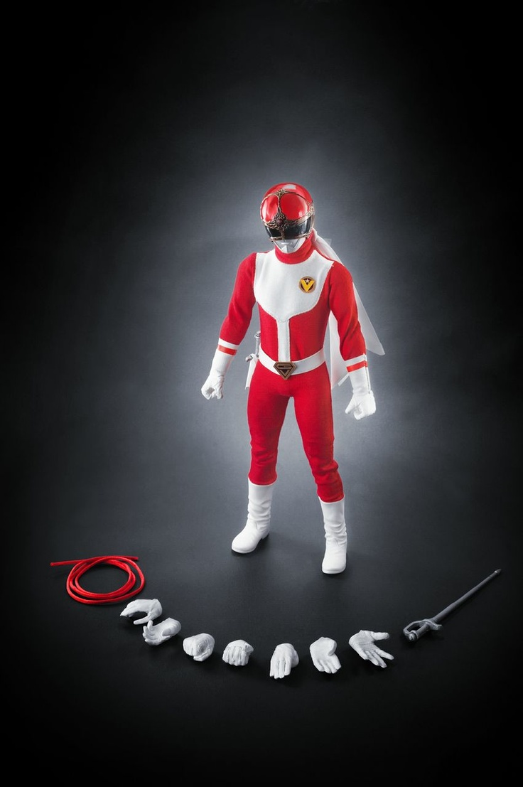 "Dai Sentai Goggle V - Goggle Red, 12"" scale, limited 85 piece worldwide, comes with serial number & certificate."