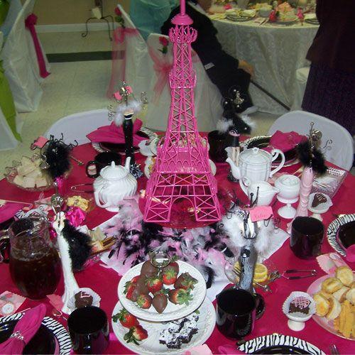 Christmas Tea Party Ideas: Paris Themed Bridal Shower