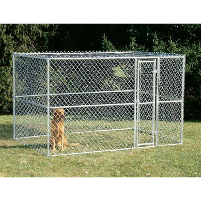 Midwest K9 Steel Chain Link Portable Yard Kennel | Hayneedle