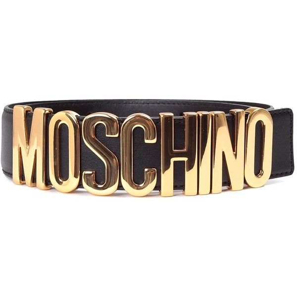 Moschino Logo Lettering Leather Belt ($215) ❤ liked on Polyvore featuring accessories, belts, nero, metal belt, moschino belt, adjustable belt, moschino and logo belts