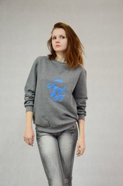 Bluza haftowana - Królik w BLOUZ  na DaWanda.com