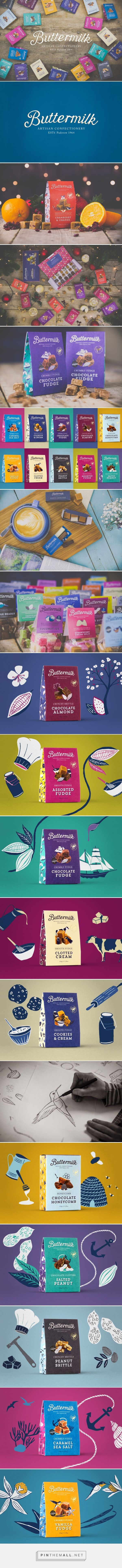 Buttermilk Confectionery - Packaging of the World - Creative Package Design Gallery - http://www.packagingoftheworld.com/2016/08/buttermilk-confectionery.html