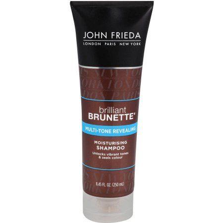 John Frieda Brilliant Brunette Shine Release Moisturizing Shampoo, 8.45 fl oz, Multicolor