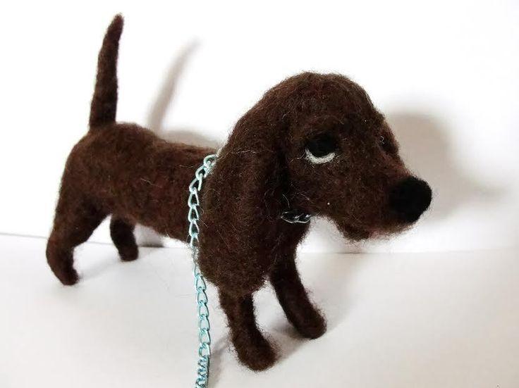 sweet Dog  needle felted miniature beautiful animal toys  handmade #4 #nutka_art #AllOccasion