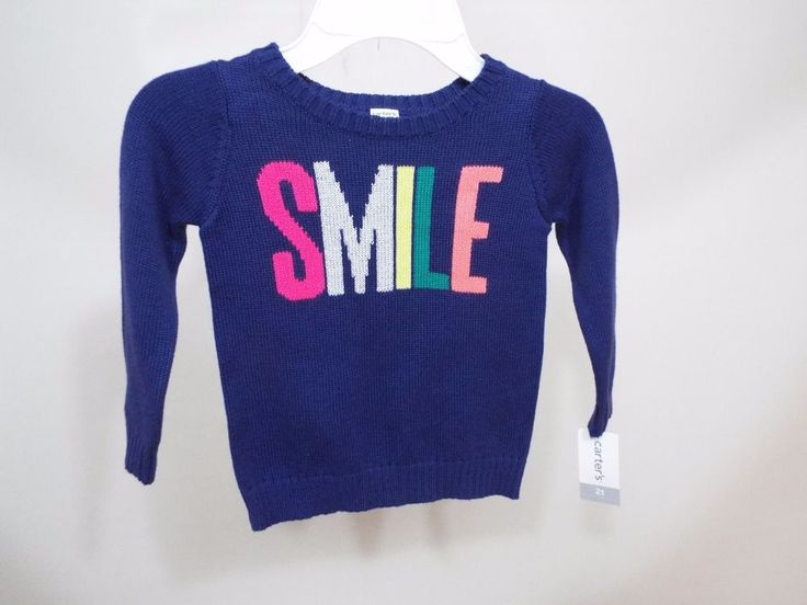 Baby toddler Girls navy pink Smile sweater size 3T  by Carter's free ship   | Clothing, Shoes & Accessories, Baby & Toddler Clothing, Girls' Clothing (Newborn-5T) | eBay!