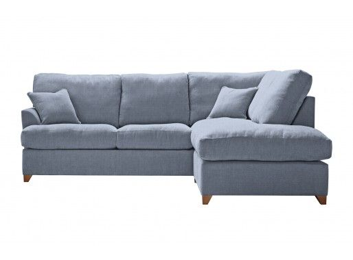 Clearance | Willow & Hall - gorgeous light blue corner sofa, so chic and livable and practical as it's a sofa bed