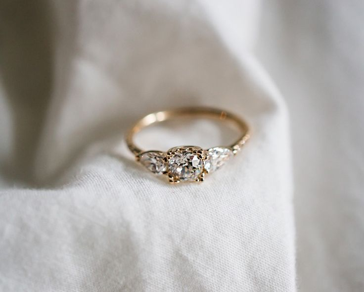 Bespoke vintage diamond engagement ring.