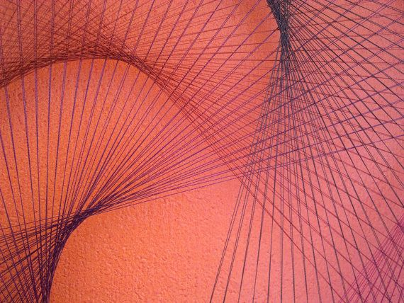 Red-Orange-Bordeau Wall Art 3D Decor Abstract by FeniksArtDeco