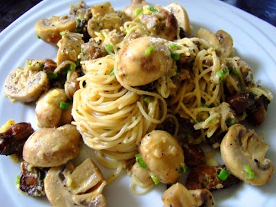 Spaghetini in Smoked Oysters and Mushroom White Sauce | A Series of Kitchen Experiments