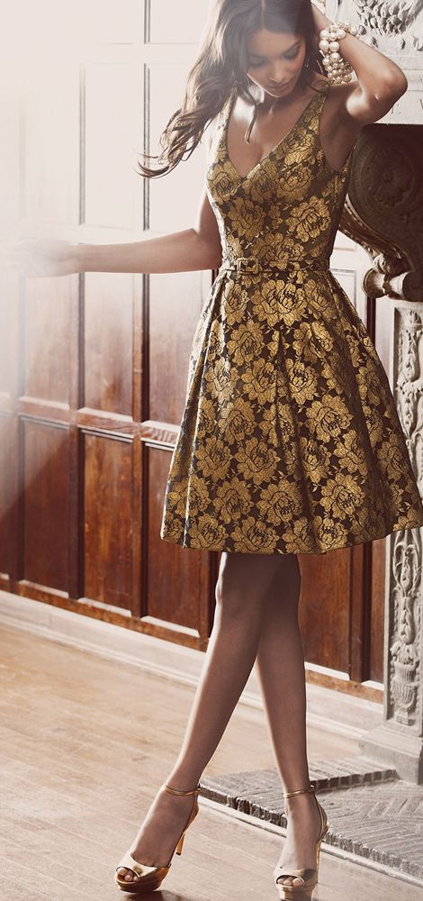 Theia Floral Lace Party Dress. women fashion outfit clothing style apparel @roressclothes closet ideas