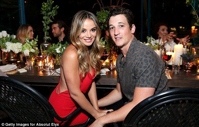 Birthday boy: Miles Teller had a birthday to remember as he celebrated turning 30 with a lavish party with model girlfriend Keleigh Sperry, 24, and pals