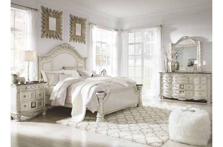 8 Pc Set 1160 Cassimore North Shore Pearl Silver Panel Bedroom Set From Ashley Coleman Furnit Ashley Furniture Bedroom Bedroom Furniture Sets Bedroom Panel