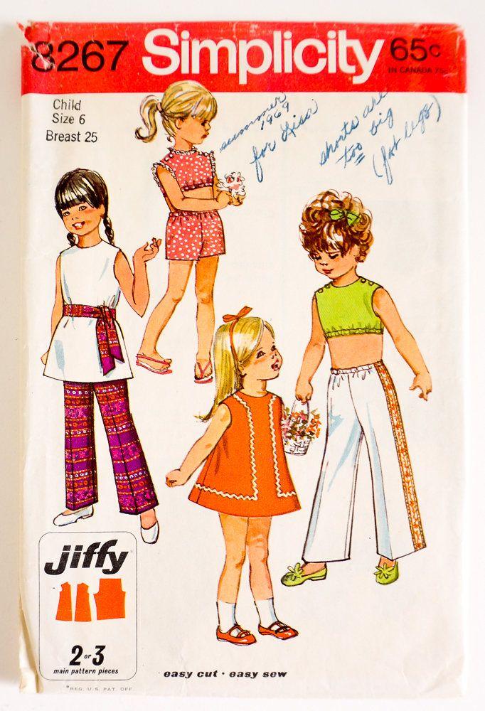 154 besten 1960s kids sewing patterns Bilder auf Pinterest ...