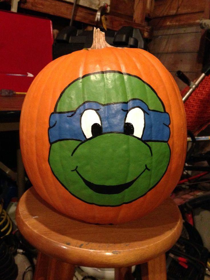 Kürbis bemalen Teenage Mutant Ninja turtles