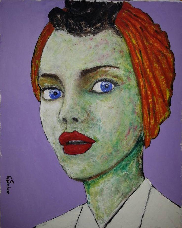 "Saatchi Art Artist George Sabin; Painting, ""French chic"" #art"
