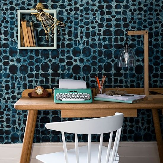 Home Office Ideas, Designs And Inspiration. Navy WallpaperBlue ...
