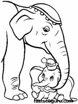 Disney Characters pictures to print Dumbos Circus - Printable Coloring Pages For Kids