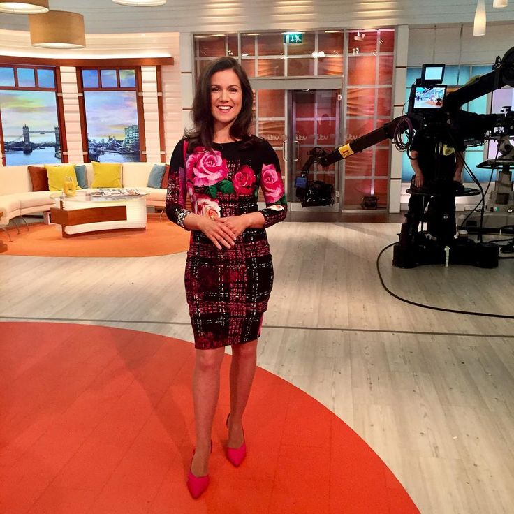 """88 Likes, 3 Comments - Debbie Harper (@debbiedresses) on Instagram: """"@gmb @susannareid100 #gorgeous in @josephribkoff dress @officeshoes #red shoes! #mondaymorning…"""""""