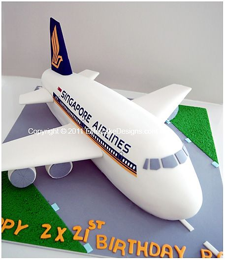 Singapore Airlines Novelty Cake, Novelty Cakes Sydney, 21st Birthday Cakes, Novelty cake designs, Designer Cakes by EliteCakeDesigns