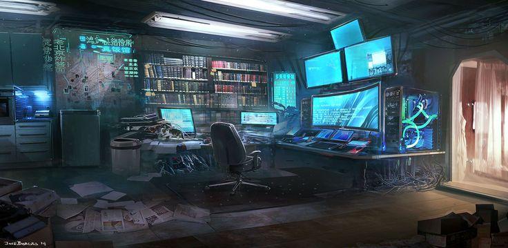 Fallen Heroes: The Hacker's Room [Jose Borges] - Jordan's work space inspiration