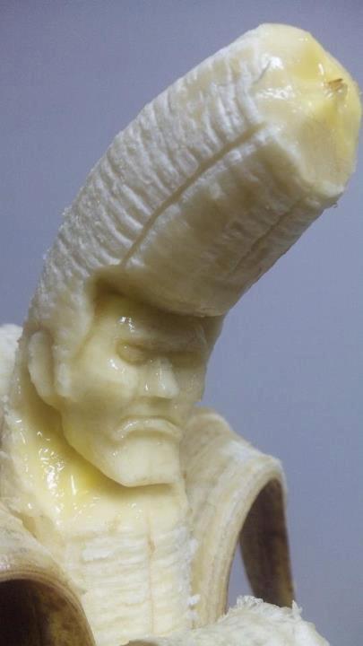 It is Elvis, who loved bananas.