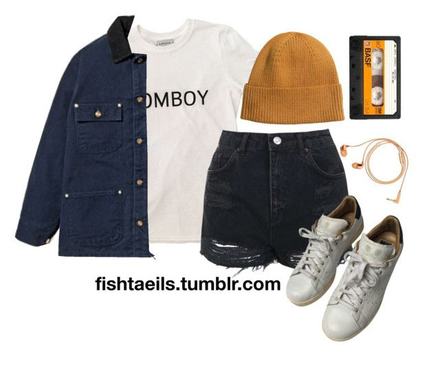"""Sungmin / Speed"" by cxurt-ney ❤ liked on Polyvore featuring Carhartt, H&M, Topshop, adidas and Happy Plugs"