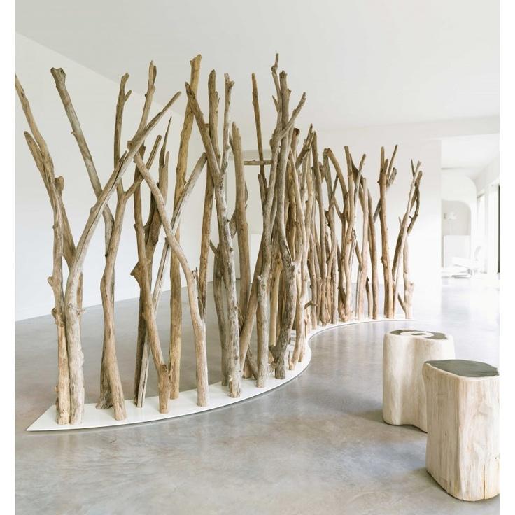 Photo de l'objet Tikibaq, paravent éco responsable en bois.