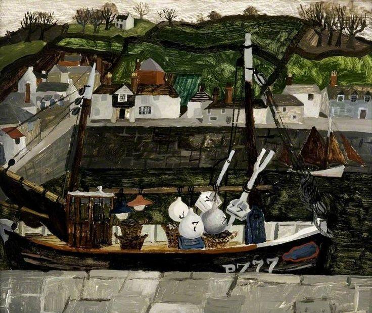 Newlyn (1930) by Christopher Wood, Glasgow Art Gallery