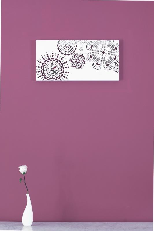 MARY Doily Sisters Coll.  design deZignStudio  #clock #wall #doily #vintage #granma