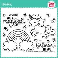 Avery Elle Clear Stamp - Be A Unicorn