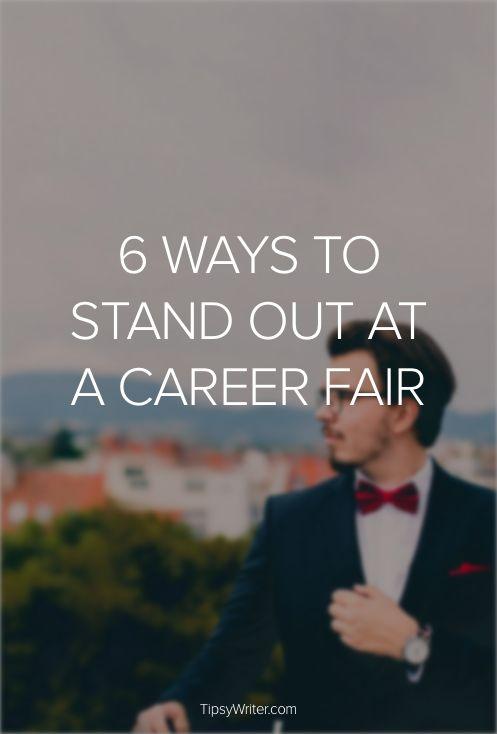 6 Ways To Stand Out At A Career Fair. Career Fair TipsJob ...
