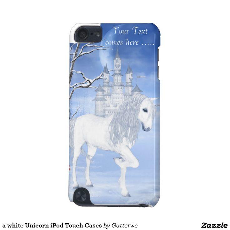 a white Unicorn iPod Touch Cases