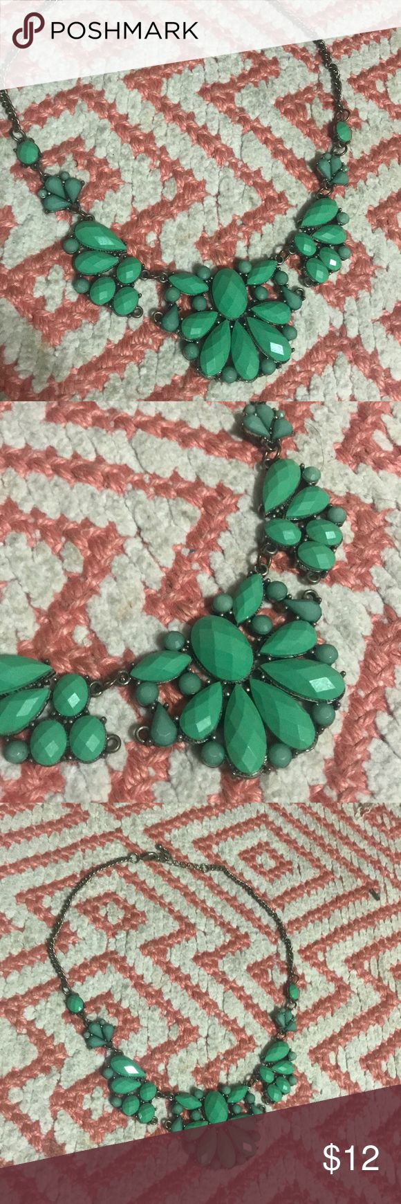 Teal necklace Perfect statement necklace Jewelry Necklaces