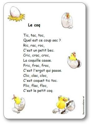 Comptine Le coq