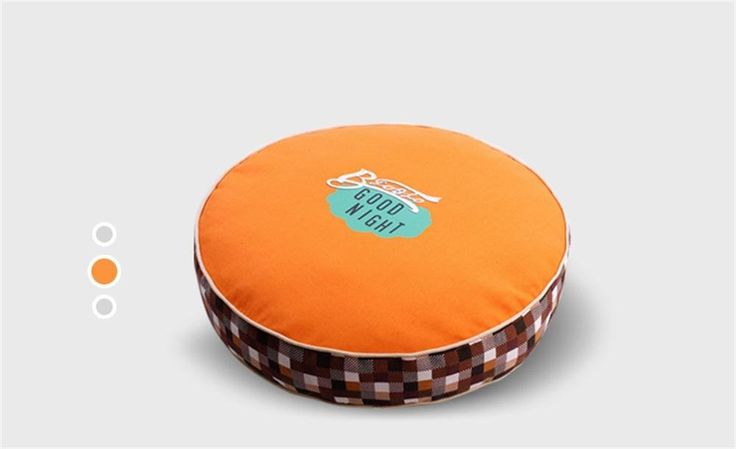 ALUS- Spring and summer seasons dog mattress detachable wash thick canvas abrasion resistant comfortable, breathable fine print (orange color) > Don't get left behind, see this great dog product : Dog house