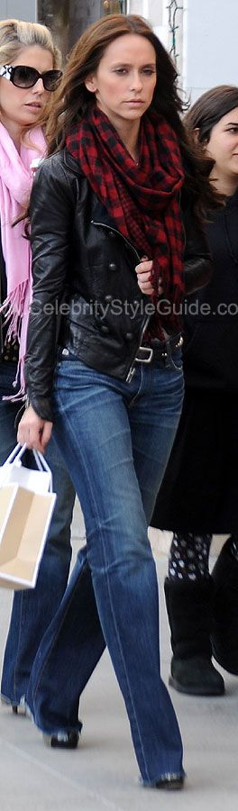 Jennifer Love Hewitt Style and Fashion - A.L.C. Leather Military Jacket - Celebrity Style Guide