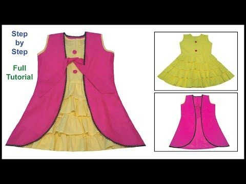 866559973bde Zabardast A Baby Frock Designs with Koti Frock   Koti Set Cutting ...