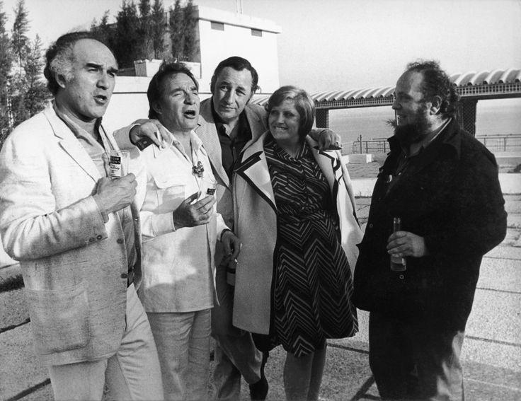 Michel Piccoli, Ugo Tognazzi, Philippe Noiret, Andréa Ferreol and Marco Ferreri - Cannes 1973