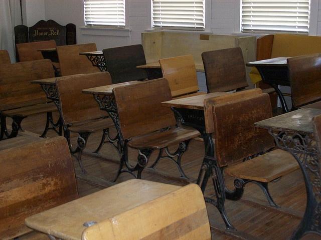 school desks in rows classroom schools old school school desks