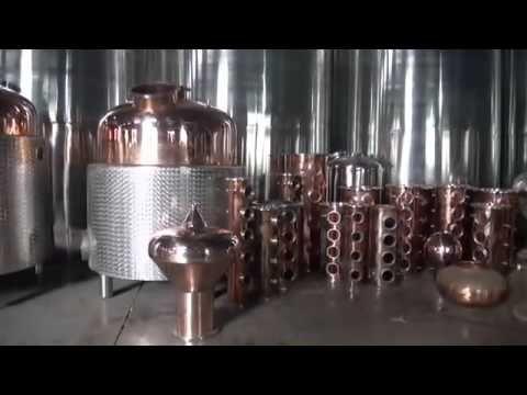 (58) DYE alcohol distilling equipment for vodka, whiskey, rum, etc - YouTube