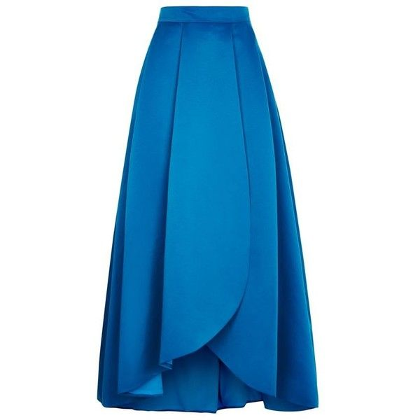 Pinko Coral Ball Gown Skirt ($505) ❤ liked on Polyvore featuring skirts, gown, blue pleated maxi skirt, high low maxi skirt, hi low maxi skirt, high-low skirt and hi lo maxi skirt