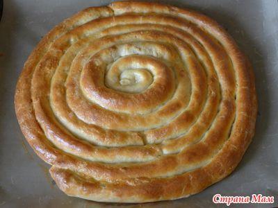 Пирог спиральный с двумя начинками