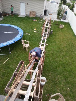 Teen Boys Build 50-Foot-Long Backyard Roller Coaster For $50 | ABC News. This is so cool!!