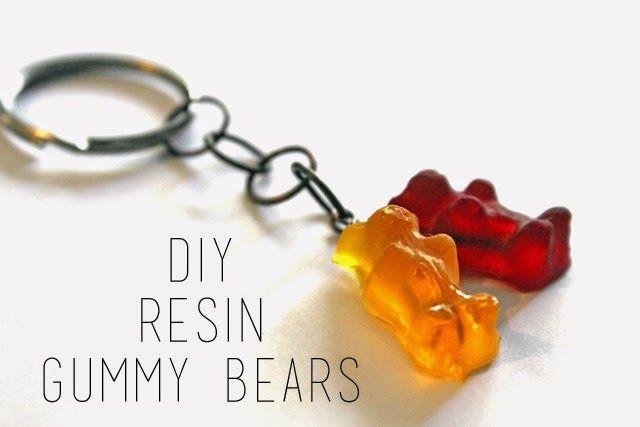 DIY Resin Gummy Bear Mold   Gummy Bear Key Chain by @punkprojects