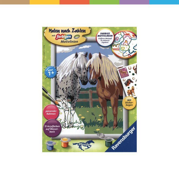 glückliche pferde  malen nach zahlen pferde malen